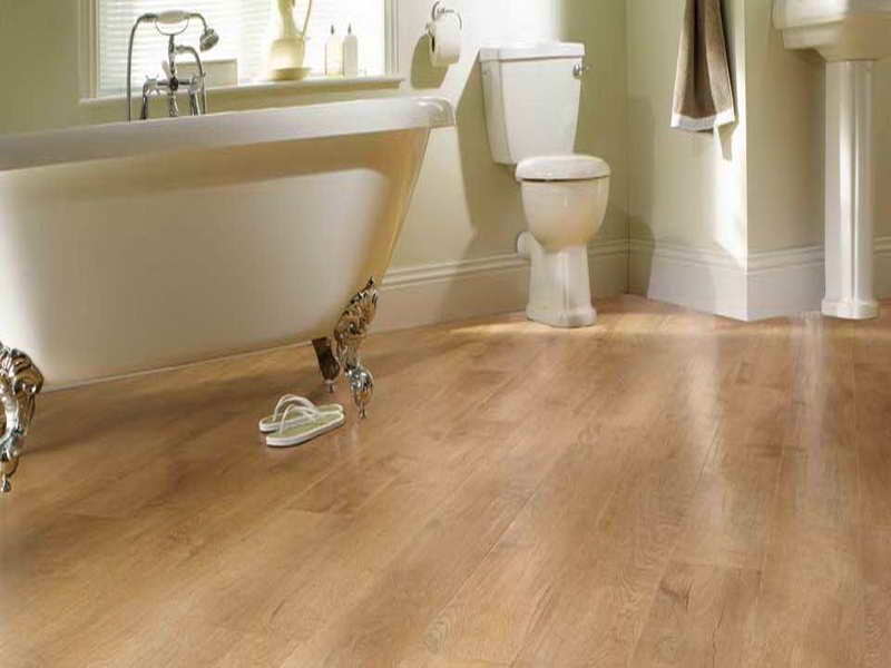 Laminate bathroom floor tiles